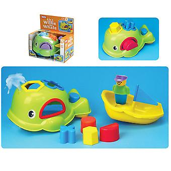 Fun Time Willie The Whale 5 in 1 Shape Sorting Bath Toy Children Kids Fun Age 3+