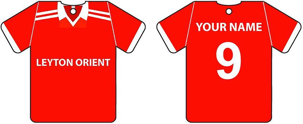 Personalisierte Leyton Orient Fußball-Hemd Auto Lufterfrischer