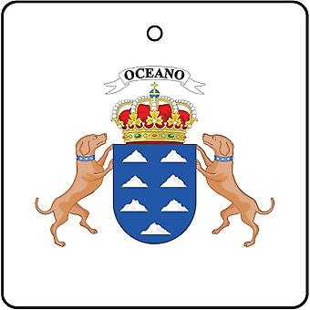 Canary Islands Spain Coat Of Arms Car Air Freshener