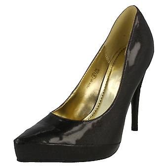 Ladies Spot On Pointed Toe Court Shoe