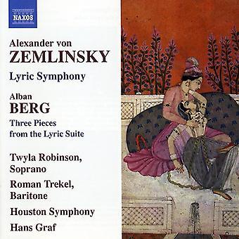 Zemlinsky/Berg - Zemlinsky: Lyric Symphony; Berg: Three Pieces From the Lyric Suite [CD] USA import