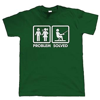 Problem Solved, Mens Funny Fishing Angling T Shirt