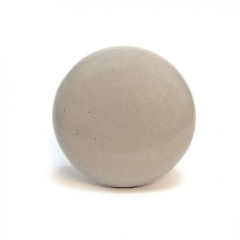 Flat Light Grey Ceramic Cupboard Knob
