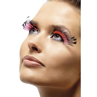 Eyelashes artificial eyelashes pink black