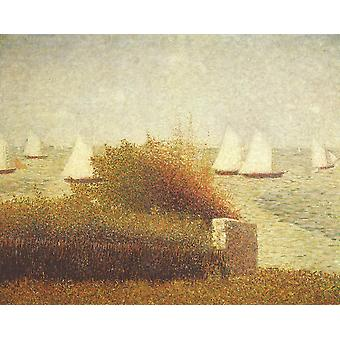 Georges Seurat - Boats at Sea Poster Print Giclee