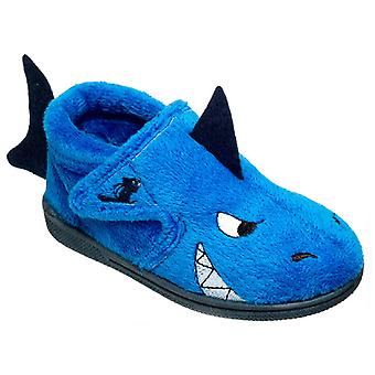 Chipmunks Boys Sharky Slippers Blue