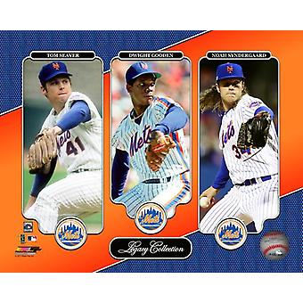 Tom Seaver Dwight Gooden Noah Syndergaard Legacy Collection Photo Print