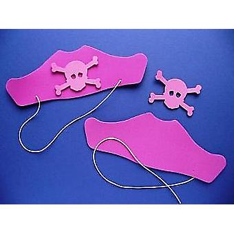 30 Pink Foam Pirate Hats Kit for Kids Crafts & Parties - SALE