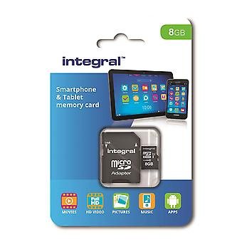 Integral 8GB Class 10 UHS-I U1 microSDHC Memory Card for SmartPhones & Tablets.