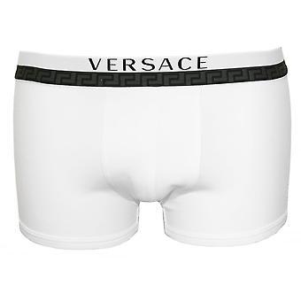 جذوع الملاكم منخفض تيتان Versace باللون الأبيض