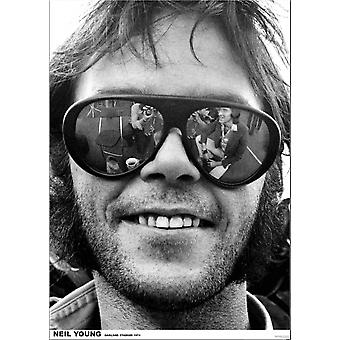 Neil Young Oakland Stadium 1974 Poster Poster Print