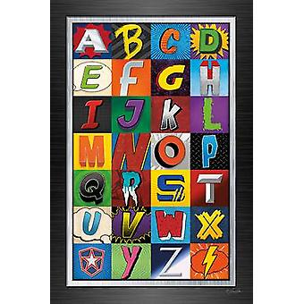 Superhero Alphabet Poster Print by Lauren Rader (12 x 18)