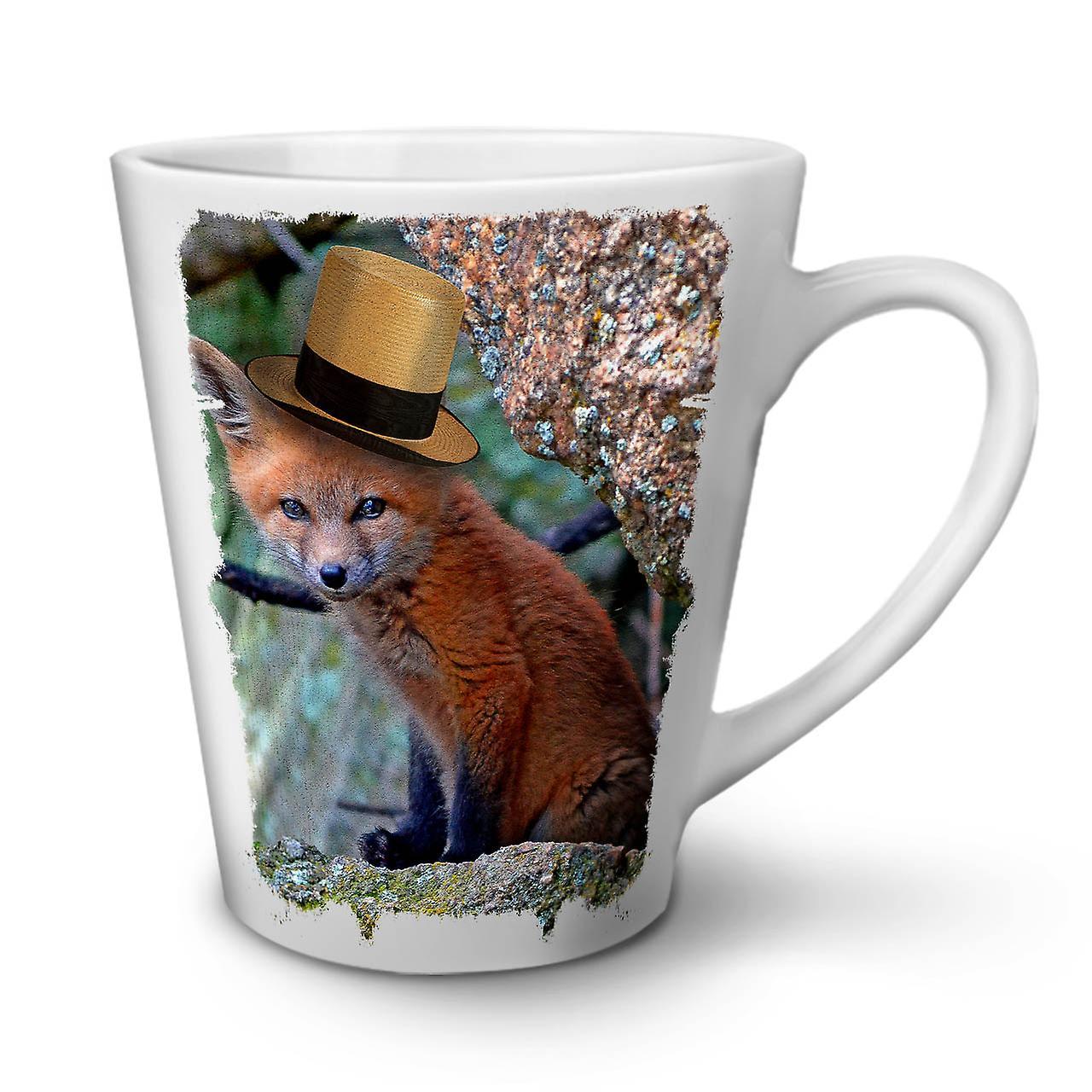 Blanche En Chapeau OzWellcoda Nouvelle Café Tasse Animal Latte Cool Fox 12 Céramique tdQsCrhxB