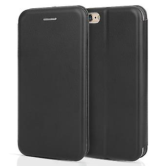 Iphone 6 / 6s PU Leather Stand Wallet Felt Lining ID Slots - Black