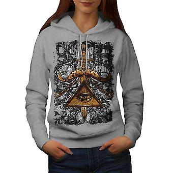 Triangle Society Women GreyHoodie | Wellcoda