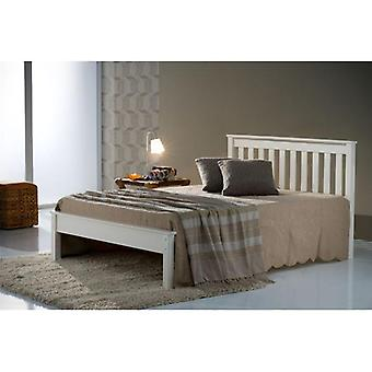 Birlea Denver Low End Ivory Painted Pine Small Double Bed Frame