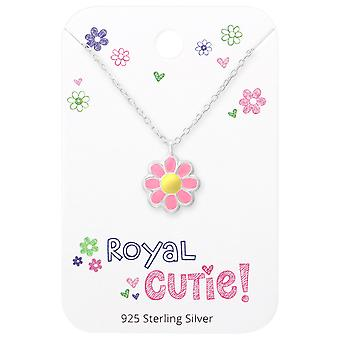 Flower Necklace On Royal Cutie Card - 925 Sterling Silver Sets - W35925x