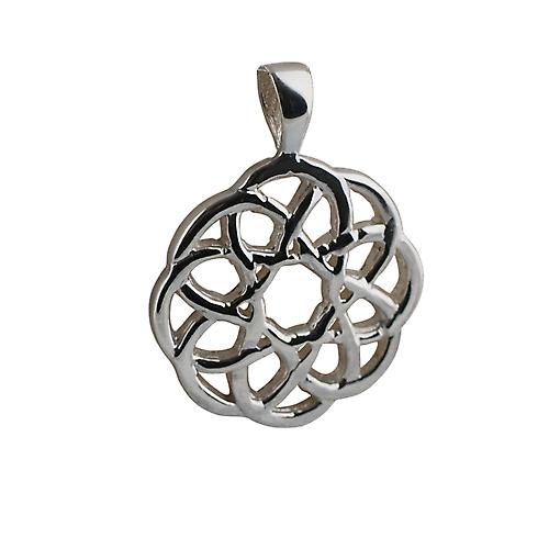 Silver 17mm Celtic knot Pendant