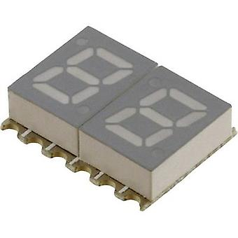 Seven-segment display Red 7.11 mm 2 V No. of digits: 2