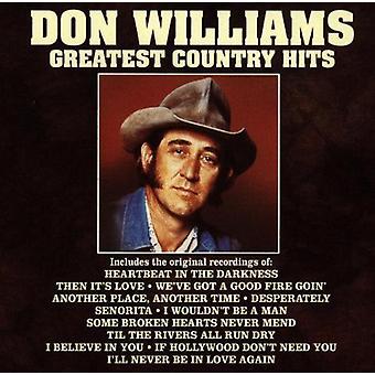 Don Williams - importación de Estados Unidos país Greatest Hits [CD]
