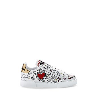 Dolce E Gabbana women's CK1545AS864HWP52 White leather of sneakers
