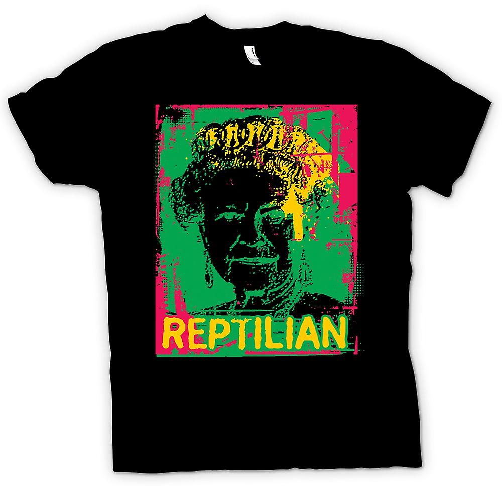 Mens T-shirt - Queen Reptillian NWO