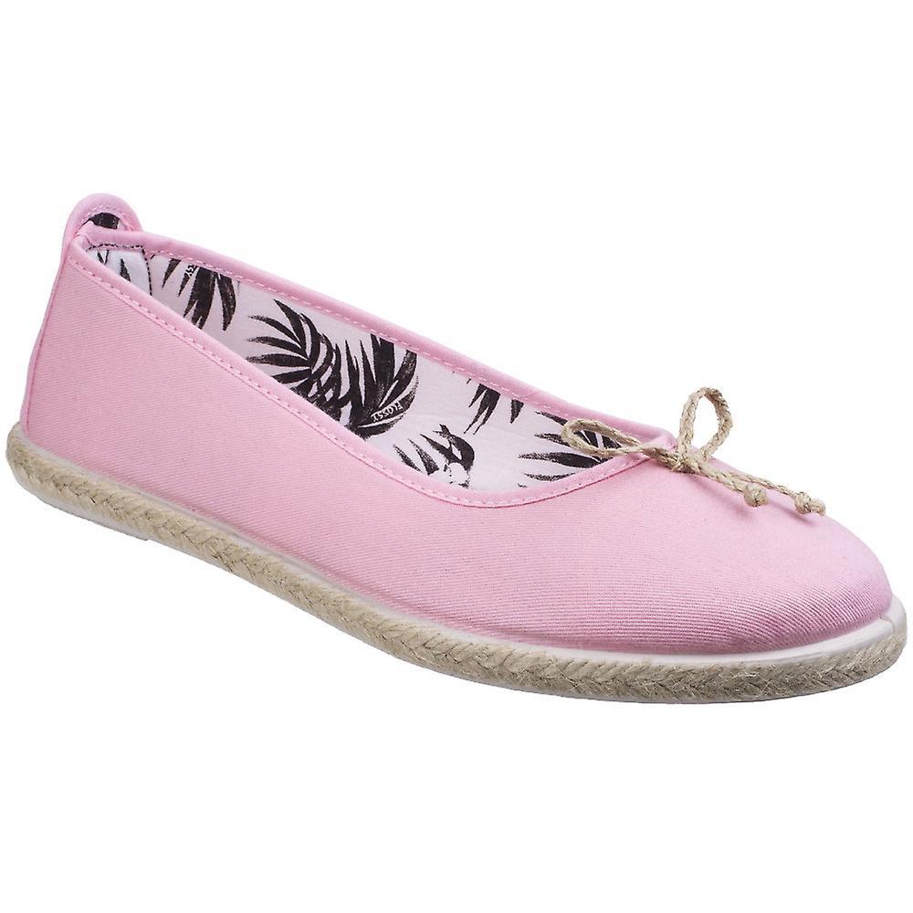 Damen/Ladies seidig Condor Leinwand Casual Sommer Ballerina Pumps Schuhe