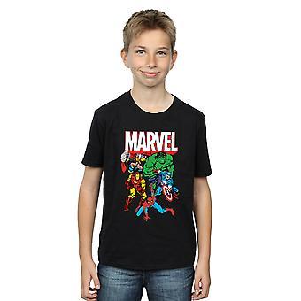 Marvel Boys Hero Group T-Shirt