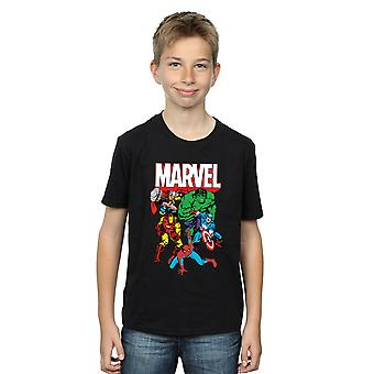 T-Shirt Marvel chłopców bohater grupy