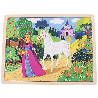 Bigjigs speelgoed Once Upon a Time houten lade Puzzle - puzzel 35 stukjes