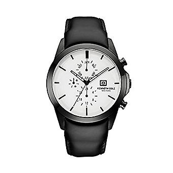 Kenneth Cole New York men's wrist watch analog quartz leather 10030794