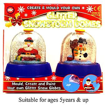 Glitter Snowstorm Domes Mould Create And Paint On Your Own Kids Activity Toy