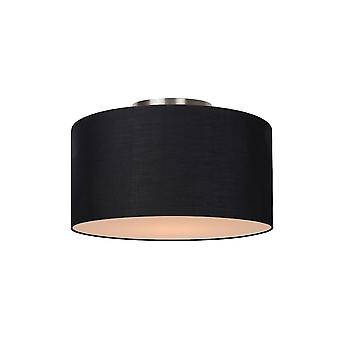 Lucide CORAL Black Ceiling Light Drum Shade