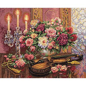 Gold Collection Romantic Floral Counted Cross Stitch Kit-16
