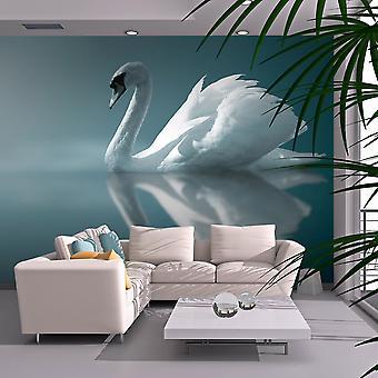 Tapeter - vit svan