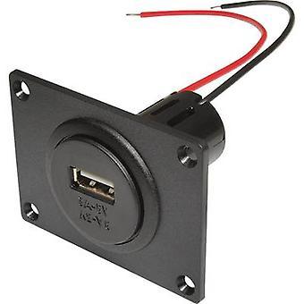 ProCar Power USB-installation uttag med montageplåt Max. lastkapacitet = 3 A Comp
