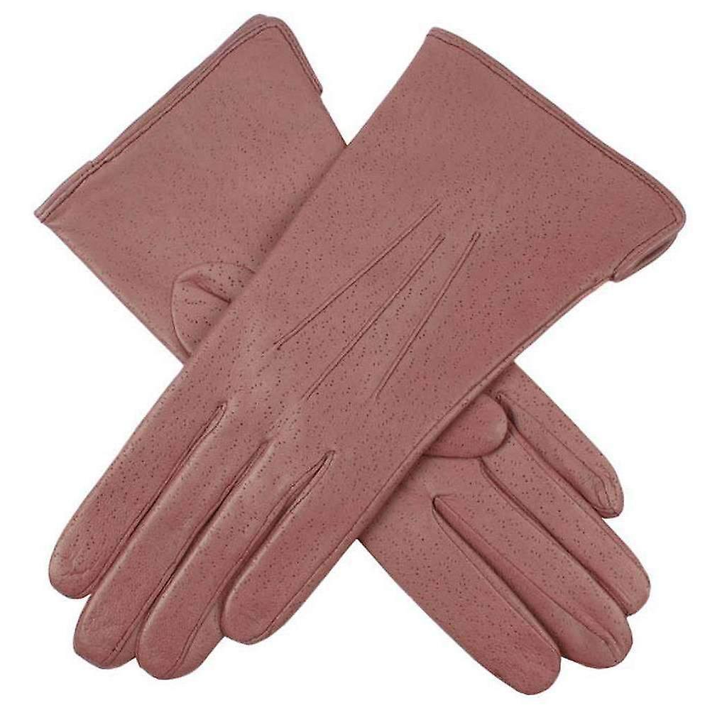 Dents Jessica Classic Imipec Leather Gloves - Antique Rose