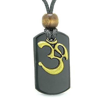 Gamle OM tibetanske Amulet magi og beskyttelse beføjelser sort Tag vedhæng halskæde