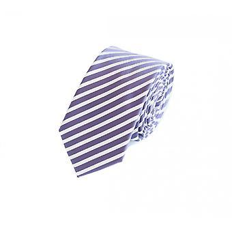 Cravatta cravatta cravatta viola 6cm Fabio Farini bianco a righe