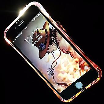 Handy Hülle LED Licht bei Anruf für Handy Apple iPhone 7 Plus Pink