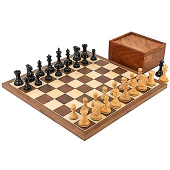Competition Compact Walnut Chess Set