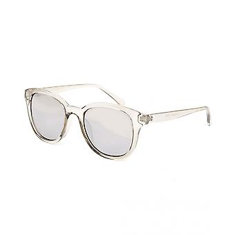 Twisted Soul Mens Grey Clear Mirrored Lens Round Sunglasses