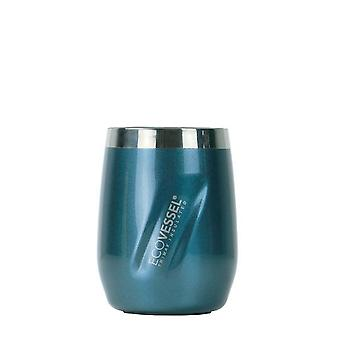 EcoVessel PORT Wine Tumbler with Lid - Blue Moon Painted 10 oz