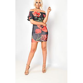 IKRUSH dame Natasha blomstret kjole