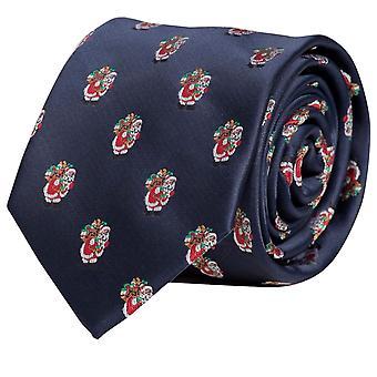 Schlips Krawatte Krawatten Binder 8cm Weihnacht Weihnachten blau Fabio Farini