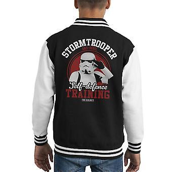 Opprinnelige Stormtrooper selv forsvar trening barneklubb Varsity jakke