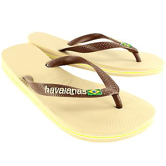 Womens Havaianas Brasil Logo Slip On Flip Flops Summer Beach Sandals New