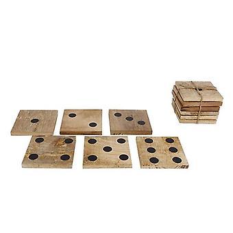 Onderzetters 6 stuks dobbelsteen 10x10