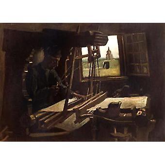 Weaver near an Open Window, Vincent Van Gogh, 50x40cm