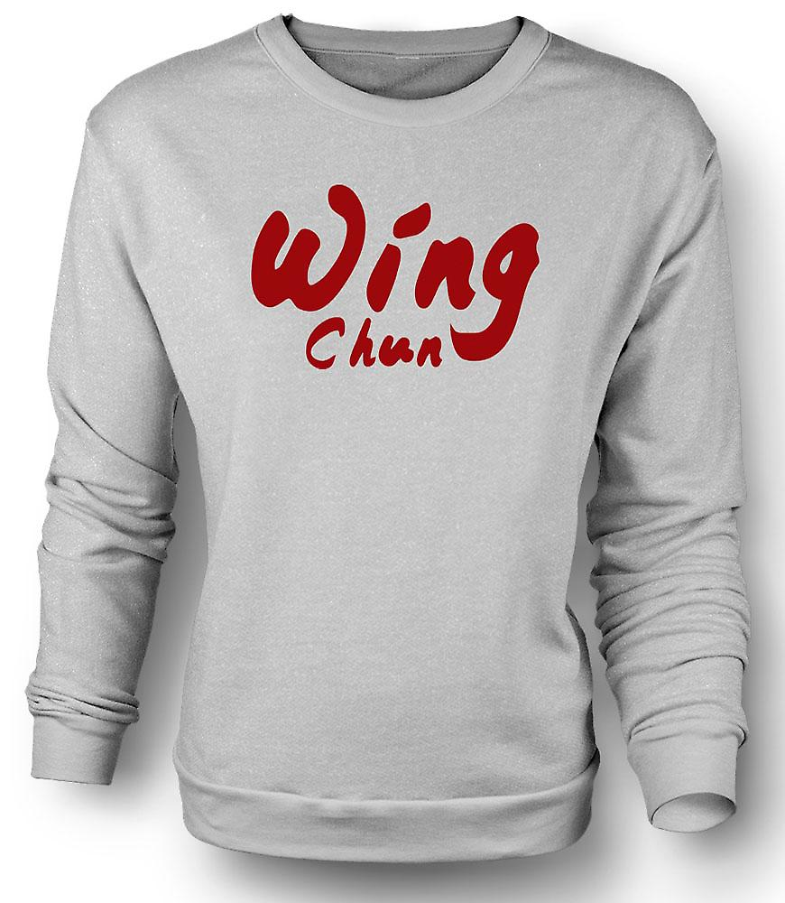 Mens Sweatshirt Wing Chun - Martial Art - Slogan